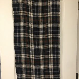 Jcrew plaid oversized scarf